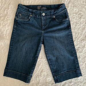 KUT from the Kloth Dark Blue Denim Bermuda Shorts